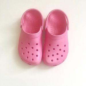Pink Crocs